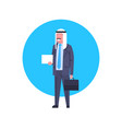 arabic business man icon full length arab vector image vector image