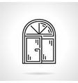 Arched window black line icon vector image