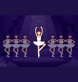 ballet flat ballerinas in vector image vector image