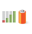 Battery with power indicator vector image vector image