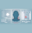 biometric identification or recognition system vector image vector image