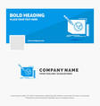 blue business logo template for content design vector image