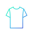 blue tshirt linear icon t-shirt symbol vector image