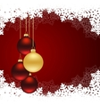 christmas red card vector image vector image