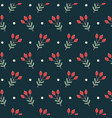 christmas seamless pattern on dark background vector image