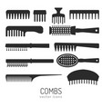 combs icons vector image