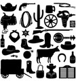 cowboy pictograms vector image