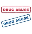 Drug Abuse Rubber Stamps vector image vector image