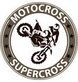 extreme motosport background vector image vector image
