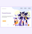 financial success website template vector image