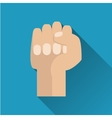 fist flat icon vector image vector image