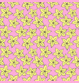 flowers pattern hand drawn vector image