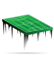 football field green vector image vector image