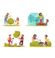 gardening cartoon design concept vector image