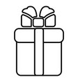 gift box icon outline style vector image vector image