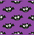halloween pattern with bat vector image vector image