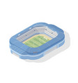 isometric soccer stadium modern football arena vector image