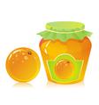jar of orange marmalade vector image vector image