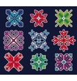 Knitted Christmas Patch 1 vector image vector image
