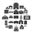 land development icons set simple style vector image vector image