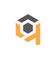 modern logo solution letter q vector image vector image