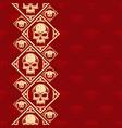 new pattern 2019 skull 0004 vector image