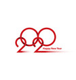 new year 2020 thin line design background 2020 vector image