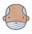 nice businessman face to kawaii avatar vector image