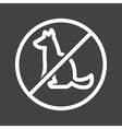 No Pet SIgn vector image