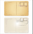 old retro vintage blank postcard collection vector image