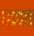orange background with light stars vector image vector image