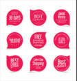 premium promo seals stickers collection 3 vector image vector image