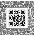 qr code on the qr codes background vector image vector image