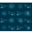radar webpages collection vector image vector image