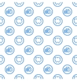 seamless pattern with blue vector image vector image