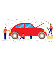 service for repair of cars vector image