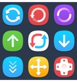Set of arrows mobile icons in flat design vector image