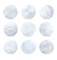 Set of snowballs isolated on white background vector image vector image