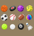 set of sport balls isolated isolated vector image vector image