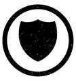 Shield Icon Rubber Stamp vector image vector image