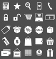 Shopping icons on gray background vector image