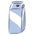 simple of carton box of milk on white background vector image vector image