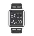 smart watch solid icon gadget and device vector image vector image