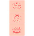 st valentine card template vector image