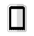 ticket entrance isolated icon vector image vector image