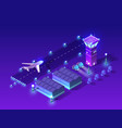 ultraviolet night lights architecture vector image