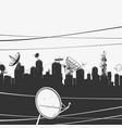 urban city panorama vector image