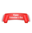 Valentines Day Curved Paper Banner vector image vector image