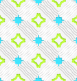 Wavy lines with blue and green seamless vector image vector image
