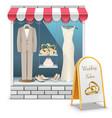 Wedding Boutique vector image vector image